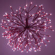 """24"""" Red Starburst Lighted Branches, Red-Cool White LED"""