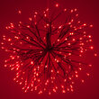 Red Starburst Lighted Branches, Red-Cool White LED