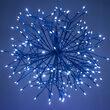 Blue Starburst Lighted Branches, Blue-Cool White LED