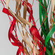 Multicolor Lighted Slender Willow Branches, Red, Green, Warm White LED