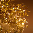Gold Starburst Lighted Branches, Warm White LED, Twinkle