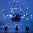 Silver Starburst Lighted Branches, RGB LED, Set of 3