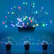 Silver Starburst Lighted Branches, Multicolor LED, Color Change, Set of 3
