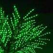 Curved Commercial LED Palm Tree With Base