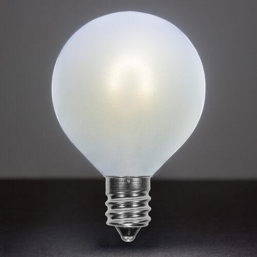 G50 Satin Gl Cool White Flexfilament Tm Globe Light Led Edison Bulbs E12 Candelabra