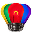 S14 Transparent Acrylic Multicolor FlexFilament TM LED Bulbs