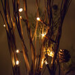 "36"" Brown Lighted Branch, Clear Rice Lights"