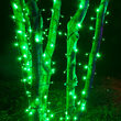 "Kringle Traditions 5mm Green LED Christmas Lights, Green Wire, 6"" Spacing, Balled Set"