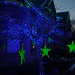 """Kringle Traditions 5mm Blue LED Christmas Lights, Green Wire, 6"""" Spacing, Balled Set"""