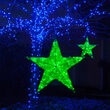Green Metallic Polymesh Commercial Star Light, Green LED Lights