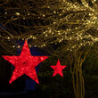 Red Metallic Polymesh Commercial Star Light, Red LED Lights