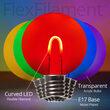 G50 Transparent Acrylic Multicolor FlexFilament Globe Light LED Edison Bulbs , E17 - Intermediate Base