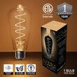 ST64 Glass Warm White FlexFilament TM LED Edison Bulbs