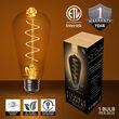 ST64 Antiqued Glass Warm White FlexFilament LED Edison Bulbs