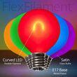 G50 Satin Glass Multicolor FlexFilament TM Globe Light LED Edison Bulbs , E17 - Intermediate Base