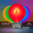G50 Satin Glass Multicolor FlexFilament TM Globe Light LED Edison Bulbs , E12 - Candelabra Base