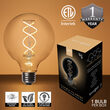 G95 Transparent Glass Warm White FlexFilament TM Globe Light LED Edison Bulbs