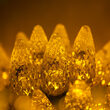 C6 Strawberry Gold LED Christmas Lights on Green Wire
