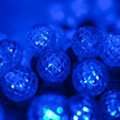 G12 Razzberry Blue LED Christmas Lights on Green Wire