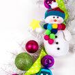 Snowman Unlit Garland