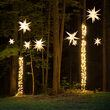 White Aurora Superstar TM Moravian Star Light, Fold-Flat, LED Lights, Outdoor Rated