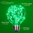 G80 Green LEDimagine TM Fairy Light Bulbs