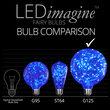 G125 Blue LEDimagine TM Fairy Light Bulbs