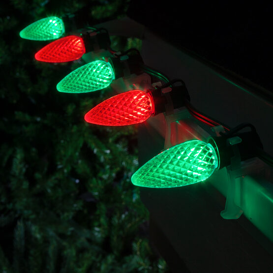 c9 red green opticore tm commercial led christmas lights