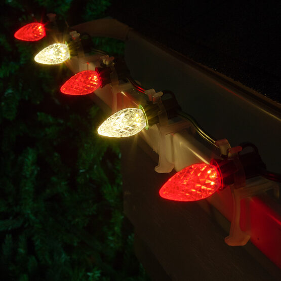 Christmas Lights C7 Red Warm White Opticore Commercial