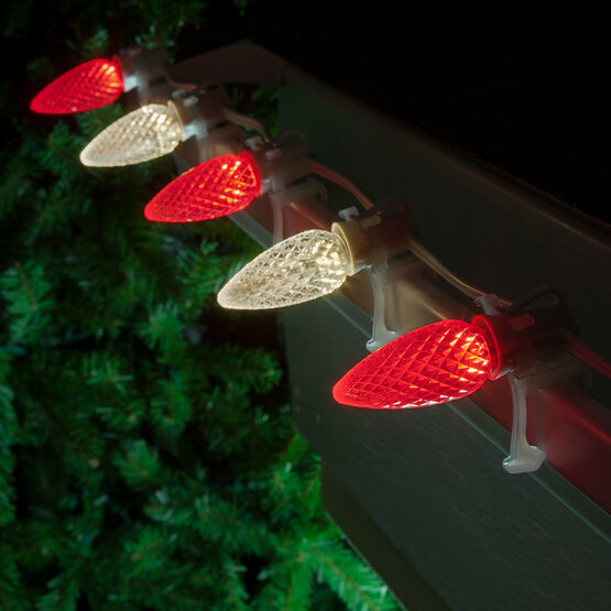 Christmas Lights C9 Red Warm White Opticore Commercial