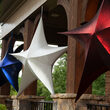 Red Metallic Unlit Fold Flat Commercial Star