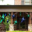 Green Metallic Unlit Fold Flat Commercial Star
