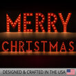 Red Merry Christmas Marquee Letters
