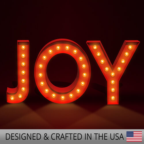 Red Joy Marquee Letters Wintergreen Corporation