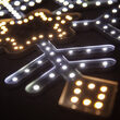 """18"""" Ultra Bright SMD Diamond Tipped Snowflake, Cool White / Warm White Lights"""