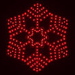 Ultra Bright SMD 36 Point Snowflake, Red Lights