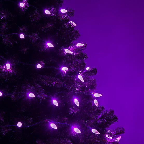 pretty nice 3e8c0 8cbaf C6 Strawberry Purple LED Christmas Lights on Green Wire - Wintergreen  Corporation