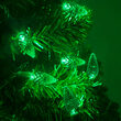 C6 Strawberry Green LED Christmas Lights on Green Wire