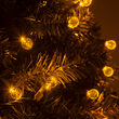 G12 Globe Gold LED Christmas Lights on Green Wire