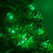 G12 Razzberry Green LED Christmas Lights on Green Wire