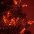 M5 Mini Ice Amber LED Christmas Lights on Green Wire