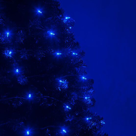 T5 Blue Led Christmas Tree Lights On Green Wire Wintergreen Corporation