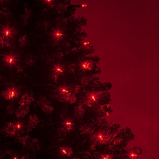 Christmas Tree Life Extender: T5 Red LED Christmas Tree Lights On Green Wire