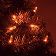 T5 Amber LED Christmas Tree Lights on Green Wire