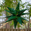Green Aurora Superstar TM Moravian Star Light, Fold-Flat, LED Lights, Outdoor Rated