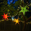 Green Aurora Superstar TM 5 Point Star Light, Fold-Flat, LED Lights, Outdoor Rated