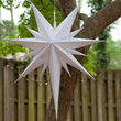 "26"" White Aurora Superstar TM Bethlehem Star Light, Fold-Flat, LED Lights, Outdoor Rated"