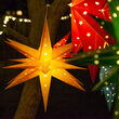 Yellow Aurora Superstar TM Moravian Star Light, Fold-Flat, LED Lights, Outdoor Rated