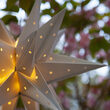 Silver Aurora Superstar TM Moravian Star Light, Fold-Flat, LED Lights, Outdoor Rated