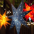 Battery Operated Blue Aurora Superstar TM 7 Point Star Light, Fold-Flat, LED Lights